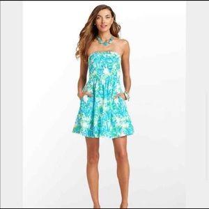 Lilly Pulitzer Chandie strapless dress/ XS